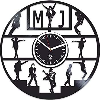 中古 輸入品 未使用 Kovides Moonwalker 売り込み ビニール壁掛け時計 マイケル 迅速な対応で商品をお届け致します メンズ ジャクソン時計 ビニールレコード 静音メカニズム 壁 ミュージシャンへの最高のギフト