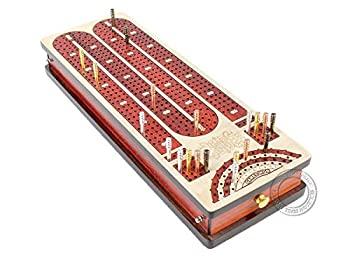 中古 輸入品 未使用 House of Cribbage - Continuous ☆送料無料☆ 当日発送可能 Board Maple Bloodwood and games : Side place with mark won Tracks Drawers to 4 大注目