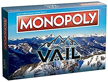中古 輸入品 未使用 モノポリー ベイル コロラド アルペンビレッジ オブ ボードゲーム 超激安特価 ビレッジの象徴的な場所とランドマーク アライグマ 返品不可