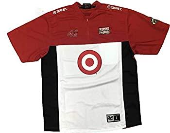 中古 輸入品 未使用 Chase Authentics NASCAR 大人気 正規店 Target #41 1 大人用 Ganassic ピットシャツ 4ジップ メンズ Racing L