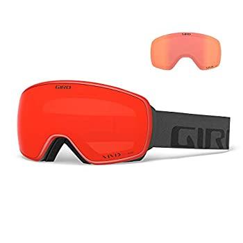 中古 輸入品 未使用 メーカー公式ショップ Giro Agent 大人用スノーゴーグル - クリアランスsale 期間限定 2021 鮮やかな赤外線レンズ付き グレーワードマークストラップ 鮮やかなエンバー