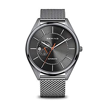 中古 輸入品 未使用 BERING メンズ自動腕時計 グレー ステンレススチールストラップ付き モデル:16243-377 20 当店一番人気 公式