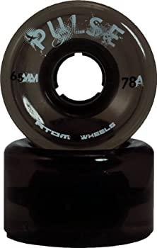 中古 輸入品 未使用 おしゃれ 4pk Black - ついに再販開始 Atom Skate Outdoor Pulse Wheels Quad Roller
