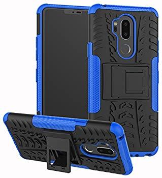 中古 輸入品 未使用 Yiakeng LG 激安通販 G7 6.1インチ モデル着用&注目アイテム 2層耐衝撃財布スリム保護キックスタンド付きハードフォンケースカバー ケース ThinQ ブルー
