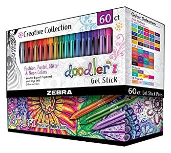 中古 輸入品 未使用 ゼブラペン Doodlerz 60 太字 Count ジェルスティックペン お買い得 販売 1.0mm