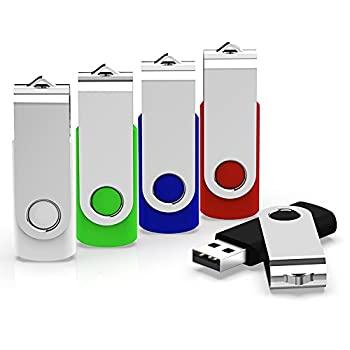 中古 [正規販売店] 輸入品 未使用 KEXIN ファクトリーアウトレット 5パック32GB USB ブルー グリー 2.0フラッシュドライブバルクサムドライブメモリスティックジャンプドライブZipドライブ ブラック 5色