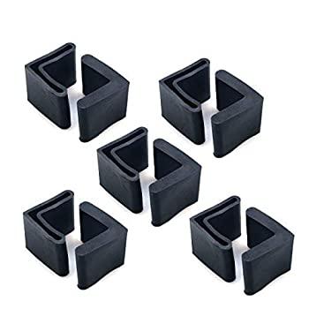 中古 輸入品 未使用 GLE2016 ラバーブラック L型家具カバー 角度 爆買いセール 数量限定アウトレット最安価格 鉄足パッド x 25mm 10個