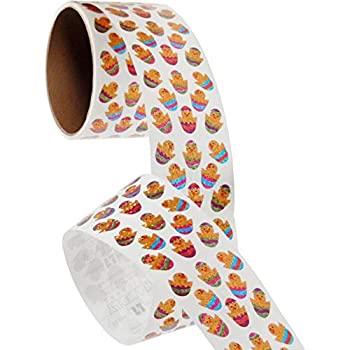 中古 輸入品 未使用 バルクRollプリズムステッカー ミニChicks in 優先配送 Roll Eggs BS7521-1 1 100?Repeats 即納最大半額 ピンク