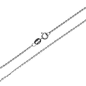 中古 輸入品 未使用 Wellme スターリングシルバー - グライディングロロケーブルチェーンネックレス 返品送料無料 店内全品対象 メタリック 16インチ 24インチ