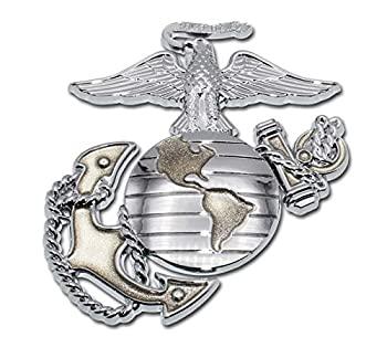 中古 輸入品 人気上昇中 未使用 Elektroplate オートエンブレム 新品 送料無料 ゴールドクローム Marines プレミアムアンカー