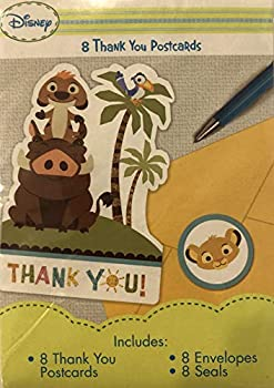 中古 輸入品 未使用 Baby Lion King ' Sweet Circle 大好評です Envelopes Life Notes Thank 8ct of You 店内全品対象 w
