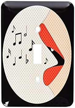 中古 輸入品 未使用 3drose 驚きの値段 LLC 1赤い唇Singing音楽ノートSingle切り替えスイッチ 送料無料限定セール中 _ lsp 110659?_