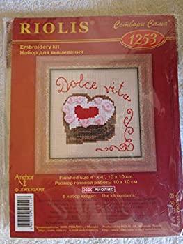 中古 チープ 輸入品 未使用 クロスステッチ刺繍キット 時間指定不可 No.1253 ハートのケーキ Cake Heart