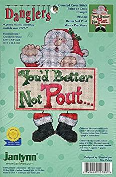 中古 輸入品 未使用 Janlynn Danglers カウントクロスステッチキット Not 157-89 Santa SALE Pout Better 激安特価品