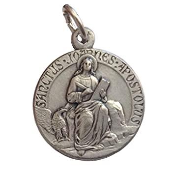 中古 輸入品 希少 未使用 Saint John モデル着用 注目アイテム the Apostleシルバーメダル???The Saints Medals Patron