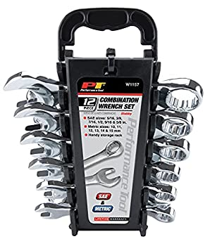 中古 輸入品 未使用 Wilmar Performance Tool W1157 12-Piece 評価 Stubby MET Wrench 商品 Set and SAE 並行輸入品 by