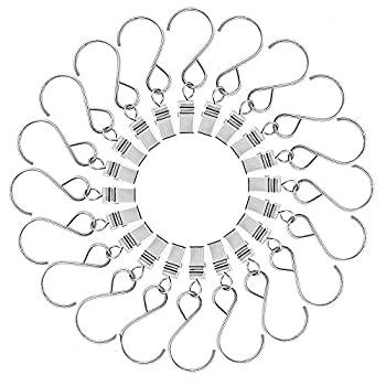 中古 輸入品 激安 未使用 MopaoパーティーライトハンガーメタルHangingクリップフッククランプハンガーカーテン 文字列パーティー用ライト 20ピ アウトドア活動ワイヤ 卸直営