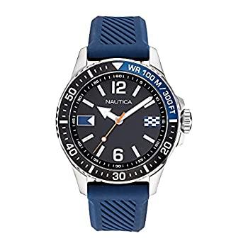 中古 輸入品 未使用 Nautica Men's Freeboard Watch 新発売 Silicone NAPFRB920 Fashion Quartz Blue 正規認証品!新規格