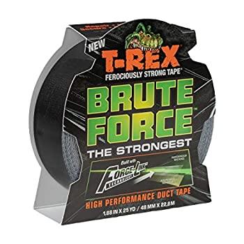 中古 超歓迎された 輸入品 未使用 T-Rex 242703 Brute Force 1.88インチ x Strongest 25ヤード 高性能ダクトテープ 情熱セール ブラック