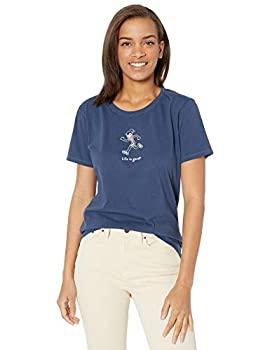 中古 誕生日/お祝い 輸入品 未使用 Life is Vintage Crusher T-Shirt 人気ブランド多数対象 Good Womens