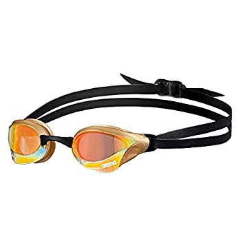 中古 輸入品 未使用 Arena Cobra Core Swim Goggles for Men Mirror New Women Anit-Fog Lens and Copper-Gold Swipe 本日の目玉 Yellow キャンペーンもお見逃しなく