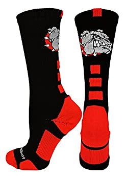 中古 輸入品 未使用 Small Black 新作からSALEアイテム等お得な商品満載 Scarlet - MadSportsStuff Bulldogs Crew 公式 Athletic Socks multiple colours Logo