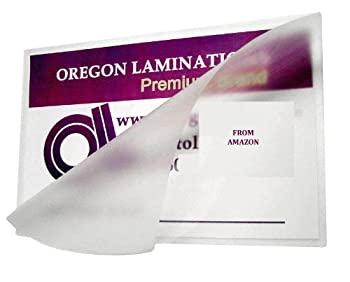 中古 輸入品 未使用 爆売りセール開催中 購買 Oregon ラミネートホットラミネートパウチ ハーフページ x 6 3ミル マット 9インチ 100パック