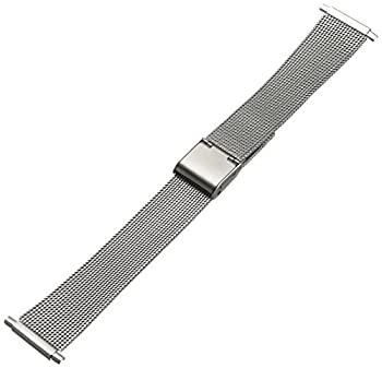 中古 爆安プライス 輸入品 未使用未開封 Hadley-Roma メンズ 腕時計バンド お買得 ステンレススチール MB3806RWSQ-22 22-mm メッシュ ブレスレット