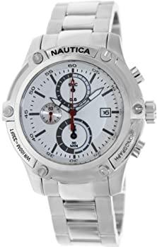 お得なキャンペーンを実施中 中古 輸入品 未使用未開封 Nautica Men's Nst 05 A20058G Silver Stainless-Steel 公式通販 Dial White Watch Quartz with