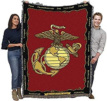 中古 輸入品 未使用未開封 Marine Corps - 優先配送 70 おしゃれ 54 x Blanket Throw