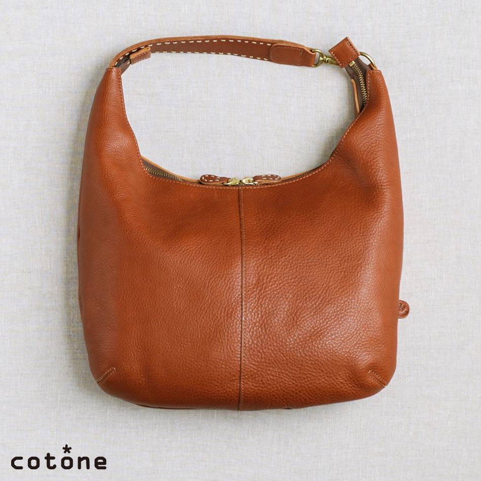 cotone コットーネ family ファミリー ショルダーバッグ トートバッグ レディース A4サイズ ブラウン/ナチュラル