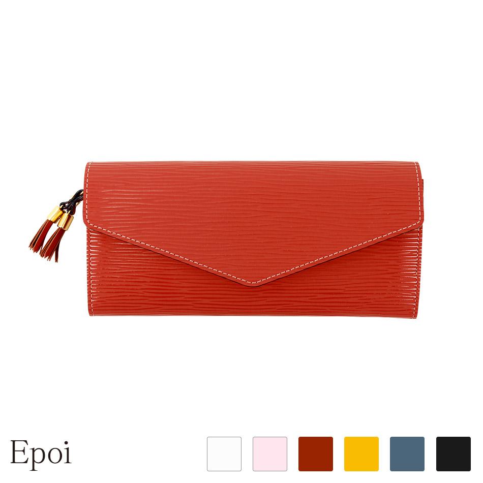 139b1316f60b epoi エポイ 日本製 レディース 財布 長財布 ブラック ブラウン イエロー アイボリー ...
