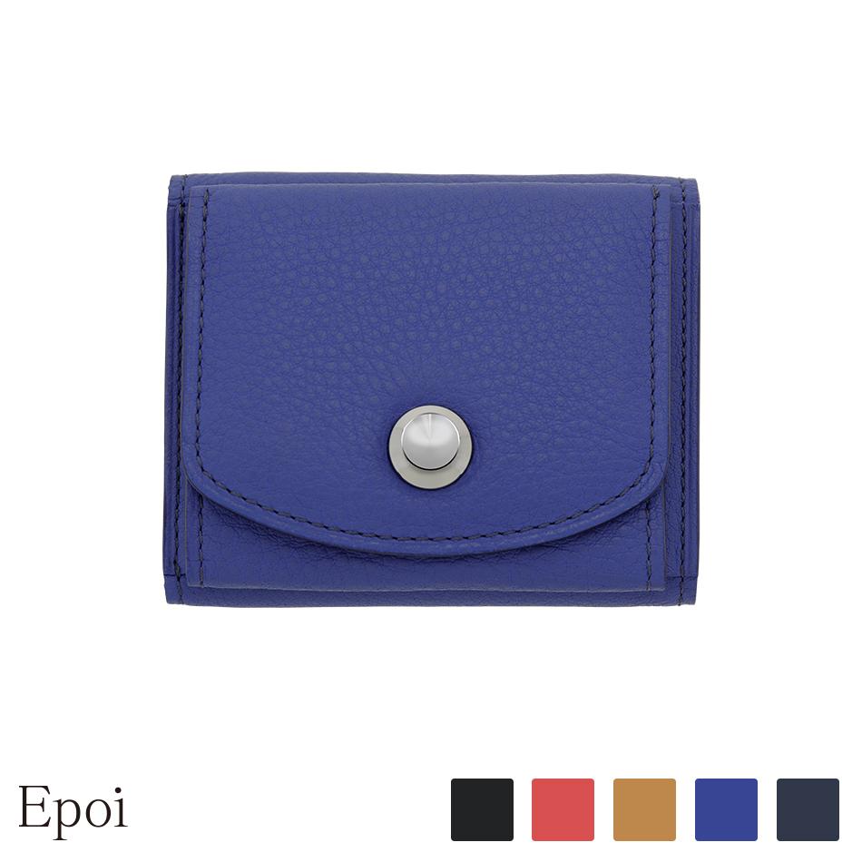 【Epoi】 エポイ Pagu パグ 三つ折り財布 財布 さいふ サイフ 日本製 レディース財布 ブラック レッド ベージュ ブルー ネイビー【レビューキャンペーン対象】