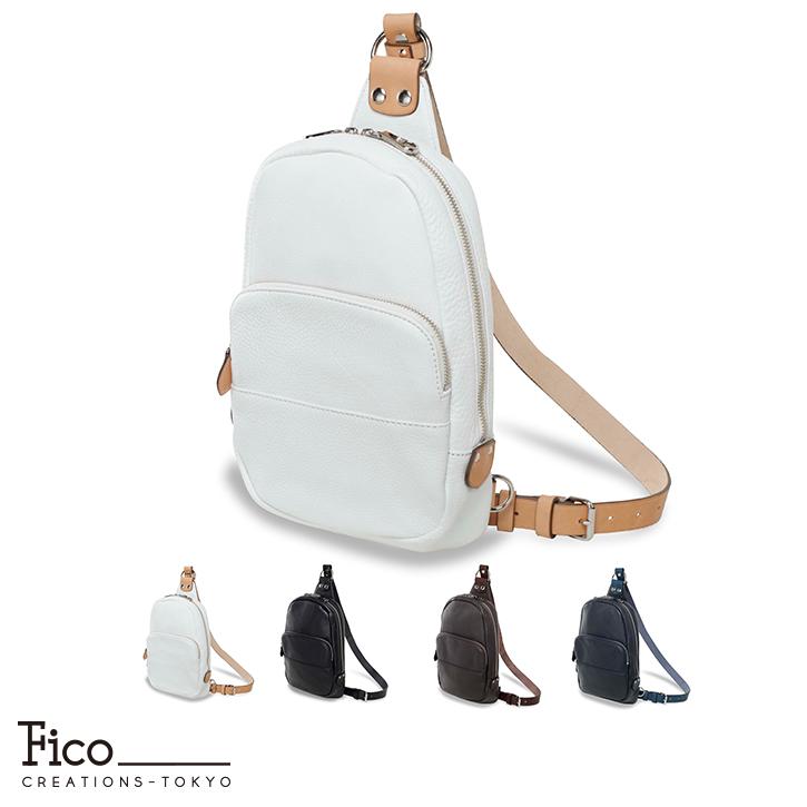 【Fico】 フィーコ BICOLORE ビコローレメンズ ボディバッグ 日本製 大容量 バイカラー メンズバッグ カジュアル A4 通勤 通学 就職