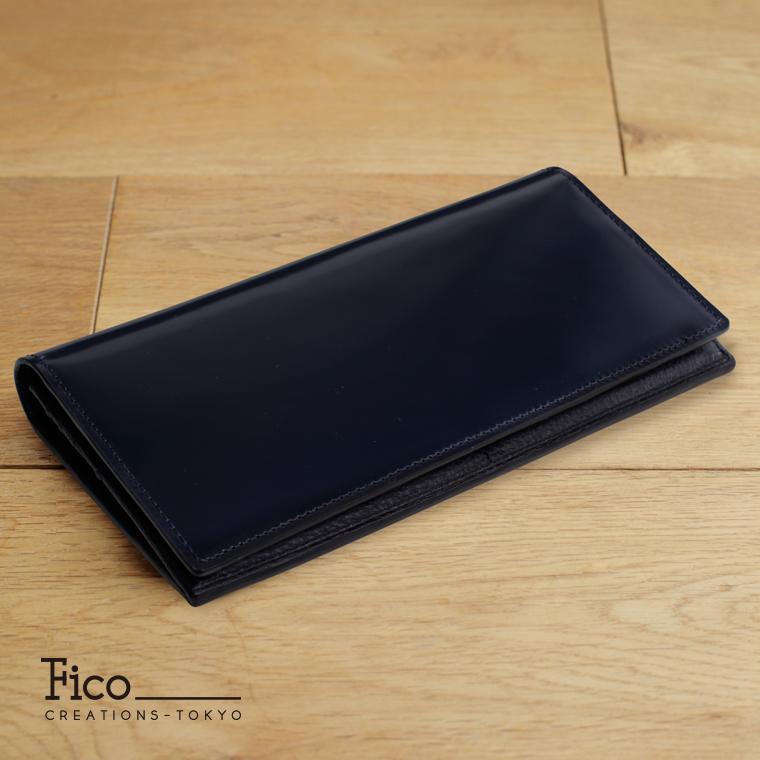 【Fico】 フィーコ BLU ブル メンズ 財布 長財布 ファスナー付き長財布 コードバン
