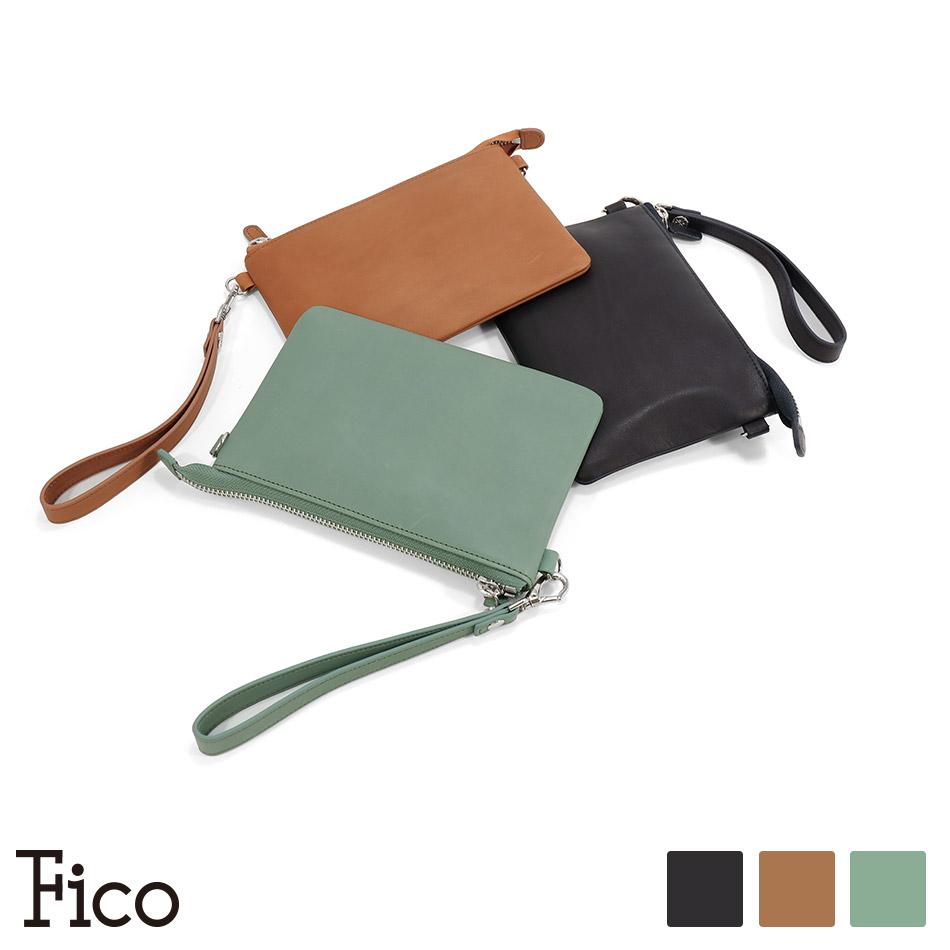 【Fico】 フィーコ ELASTICO エラスティコ 3wayポーチ ポーチ型長財布 サコッシュ