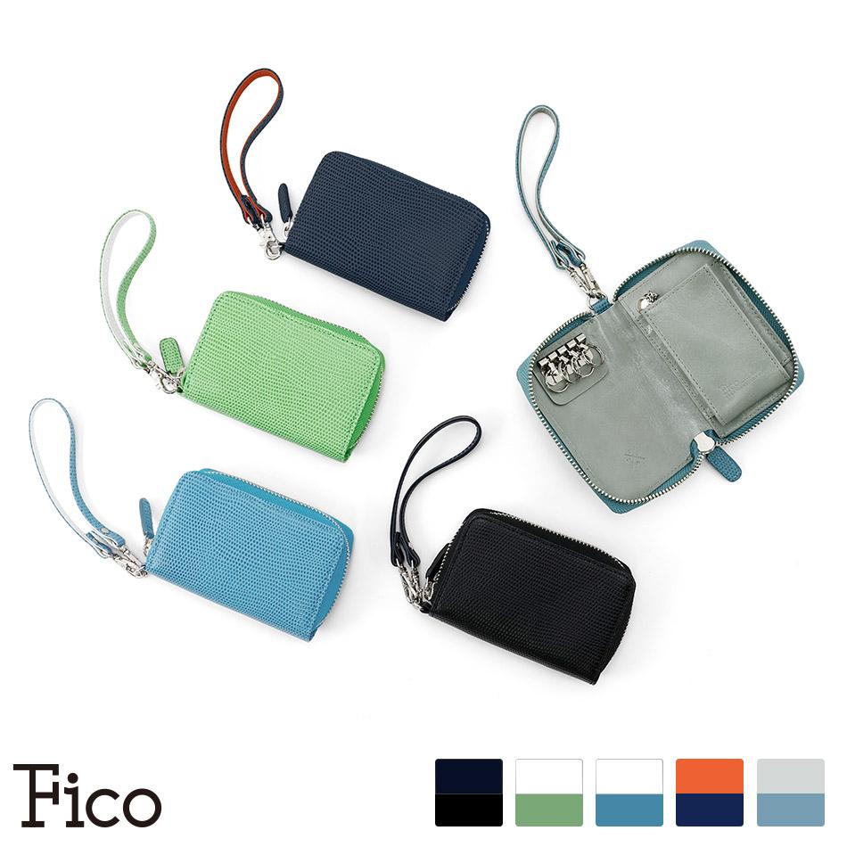 【Fico】 フィーコ FLIZARD C エフリザードC メンズ キーケース ラウンドファスナーキーケース スマートキー IDケース