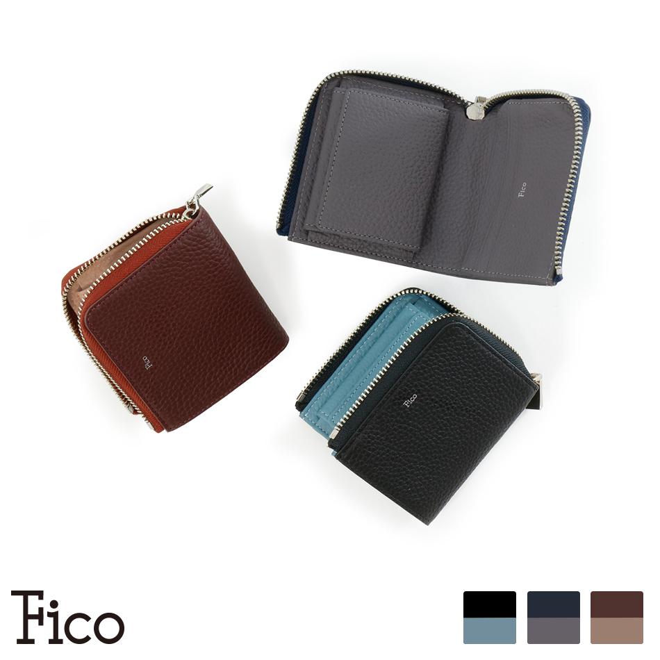 【Fico】FACCE フィーコ ファッチェ Lファスナー二つ折り財布