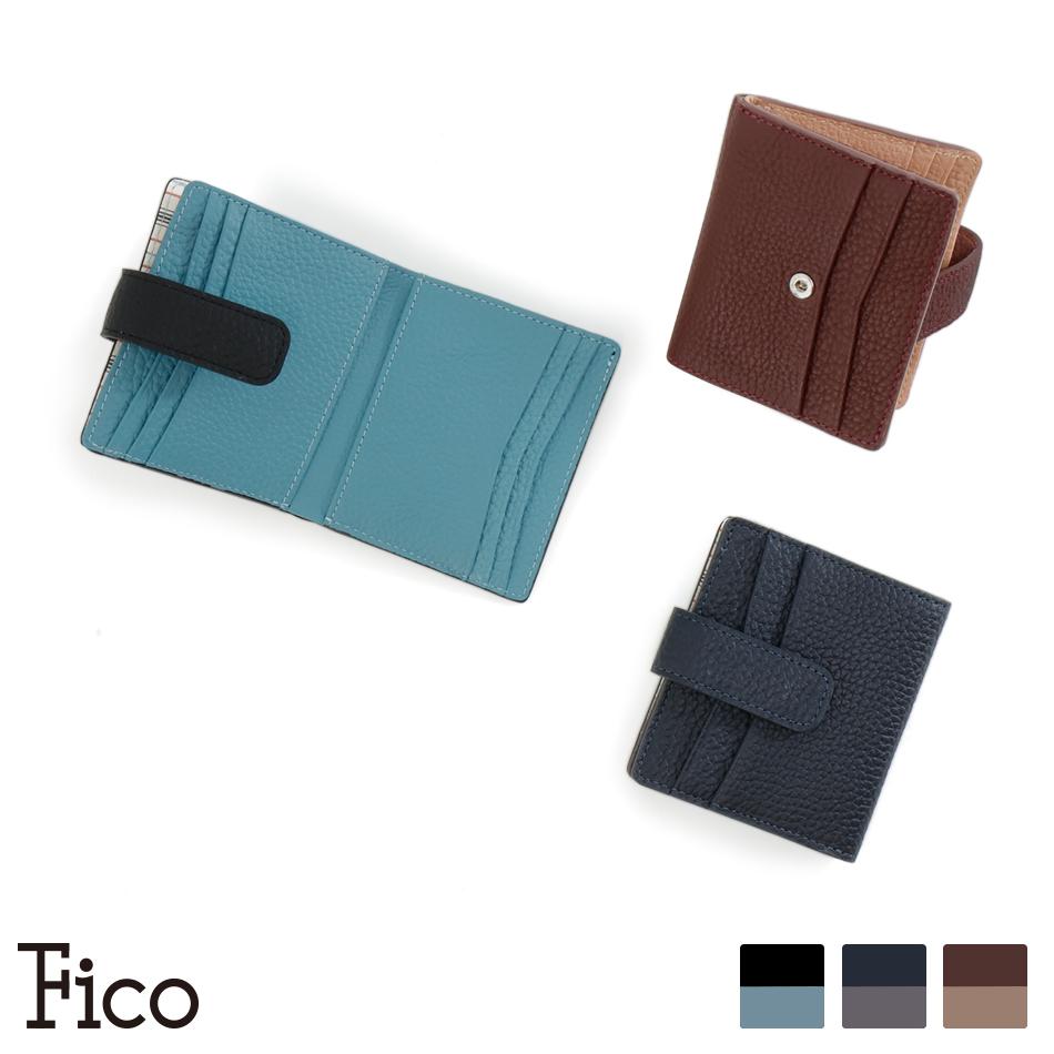 【Fico】FACCE フィーコ ファッチェ カードケース 二つ折り純札入れ