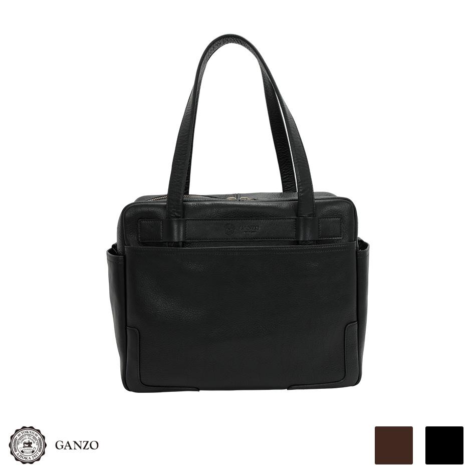 【GANZO】 ガンゾ 7QS-H スクエアボストン メンズバッグ