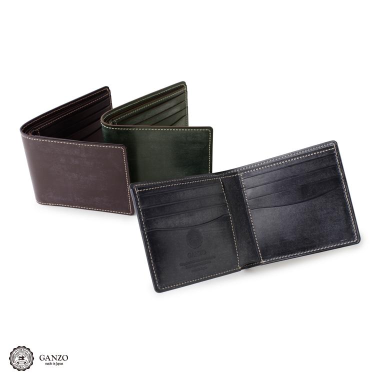 【GANZO】 ガンゾ Bridle Casual ブライドルカジュアル 二つ折り財布 財布 日本製 メンズ