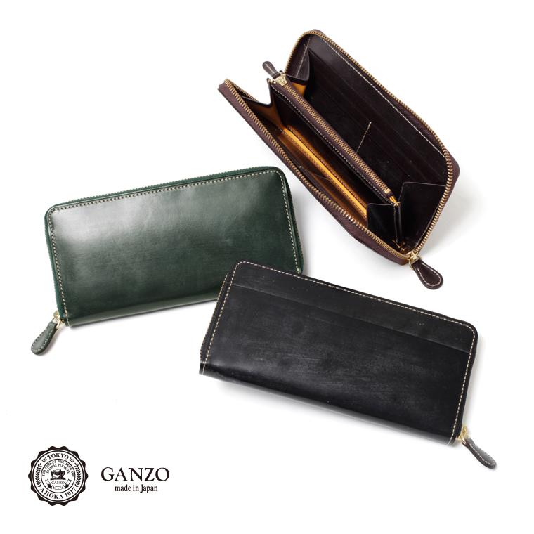 【GANZO】 ガンゾ BRIDLE CASUAL ブライドルカジュアル ラウンドファスナー長財布 長財 日本製 長財布 メンズ