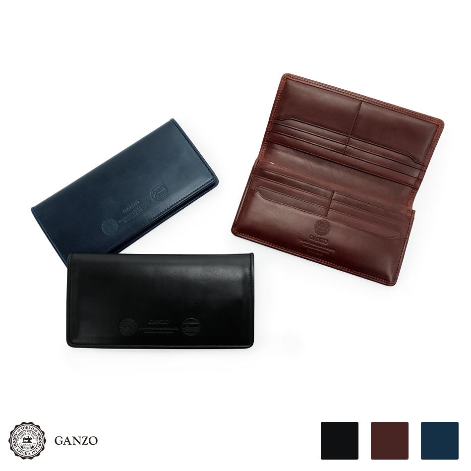 【GANZO】 ガンゾ GH5 ファスナー小銭入れ付き長財布 メンズ財布 ブラック/ブラウン/ネイビー