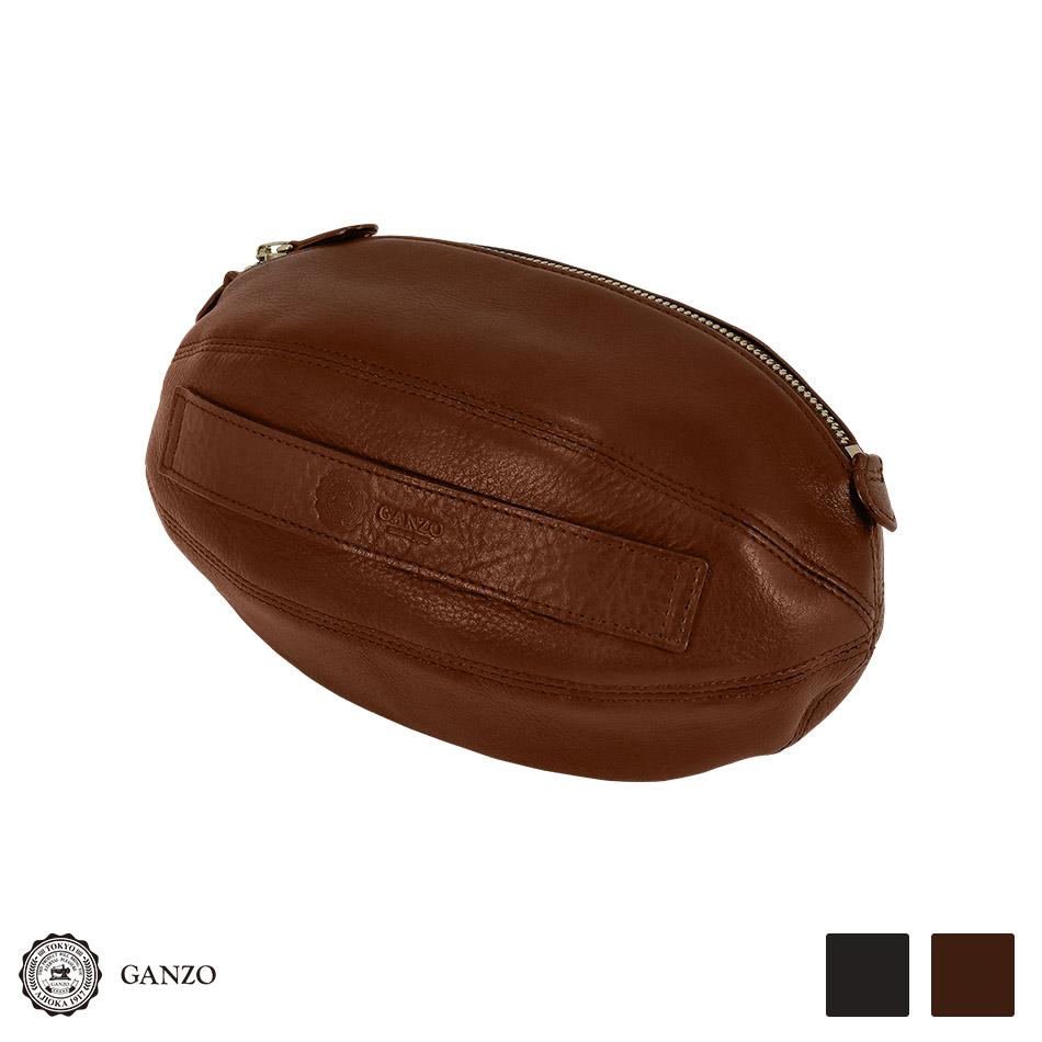 【GANZO】 RUGBY ラグビーボール型 クラッチバッグ