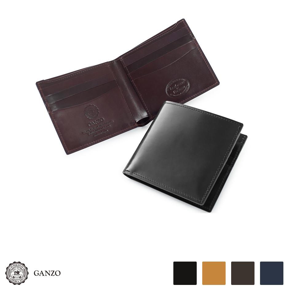 【GANZO】 ガンゾ Shell Cordovan 2 シェルコードバン2 2つ折り財布 メンズ 財布 日本製