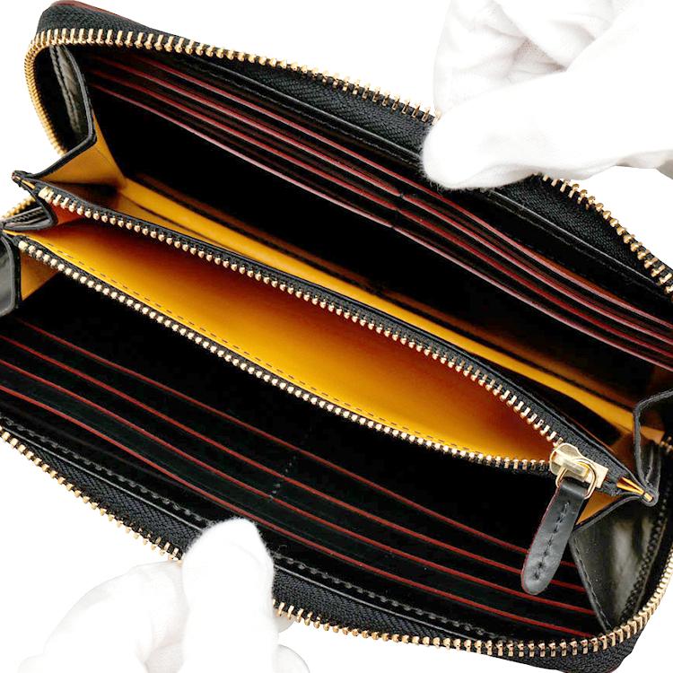 【GANZO】 ガンゾ SHELLCORDOVAN2 シェルコードバン2 財布 日本製 メンズ 長財布 牛革 馬革 レザー ラウンドファスナー長財布 黒 ブラック バーガンディ ネイビー