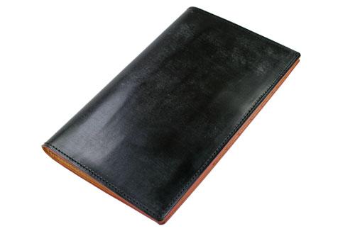 男子的GANZO ganzo THIN BRIDLE shimburaidoru长钱包(老护照尺寸)