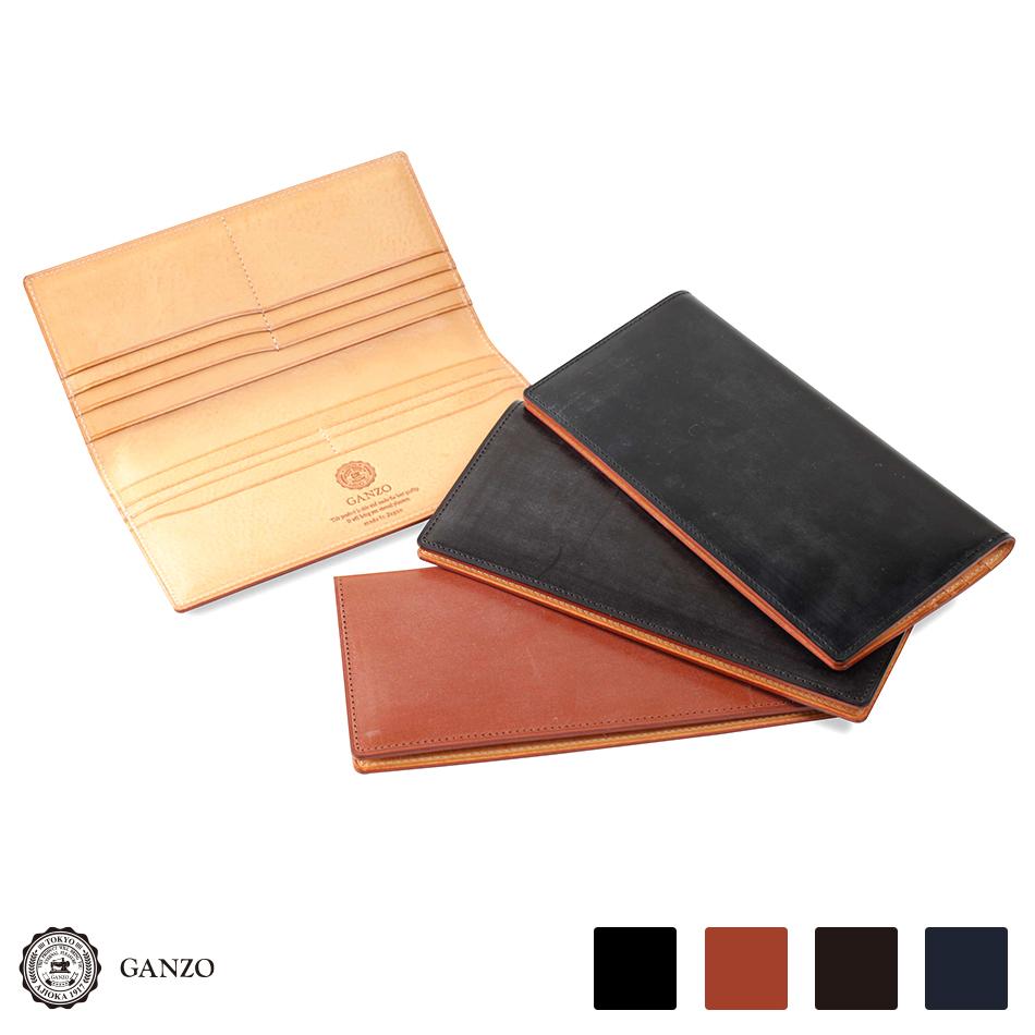【GANZO】 ガンゾ THIN BRIDLE シンブライドル ブライドル 財布 日本製 メンズ 長財布 レザー 牛革 ブラック ヘーゼル ダークブラウン ネイビー