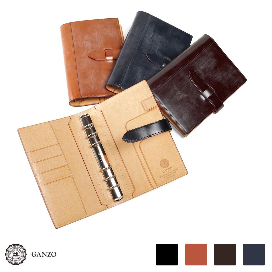 【GANZO】 ガンゾ 長財布 ブライドル システム手帳カバー バイブルサイズ THIN BRIDLE シンブライドル