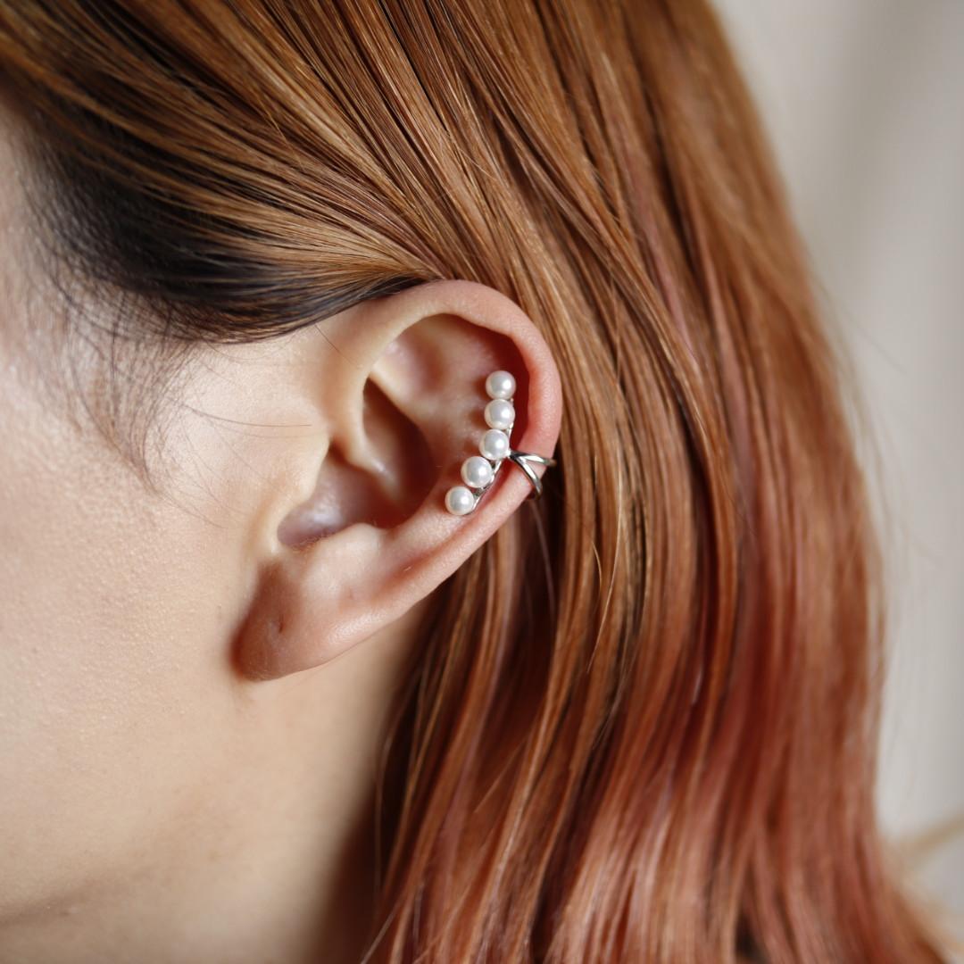 イヤカフ  silver925 シンプル シルバー  片耳 ギフト プレゼント 女性 レディース 上品 華奢 フリーサイズ ajiro M095